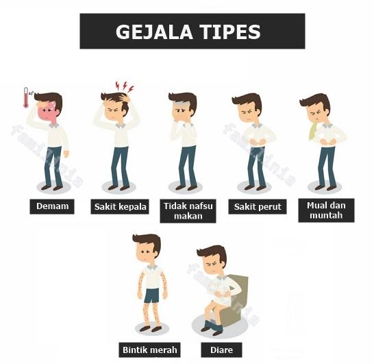Tanda dan gejala tipes