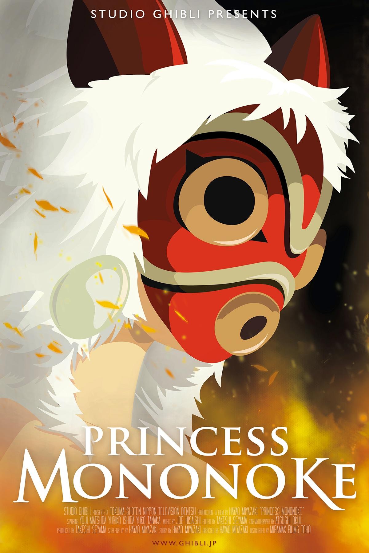 film animasi Jepang Mononoke Hime Poster