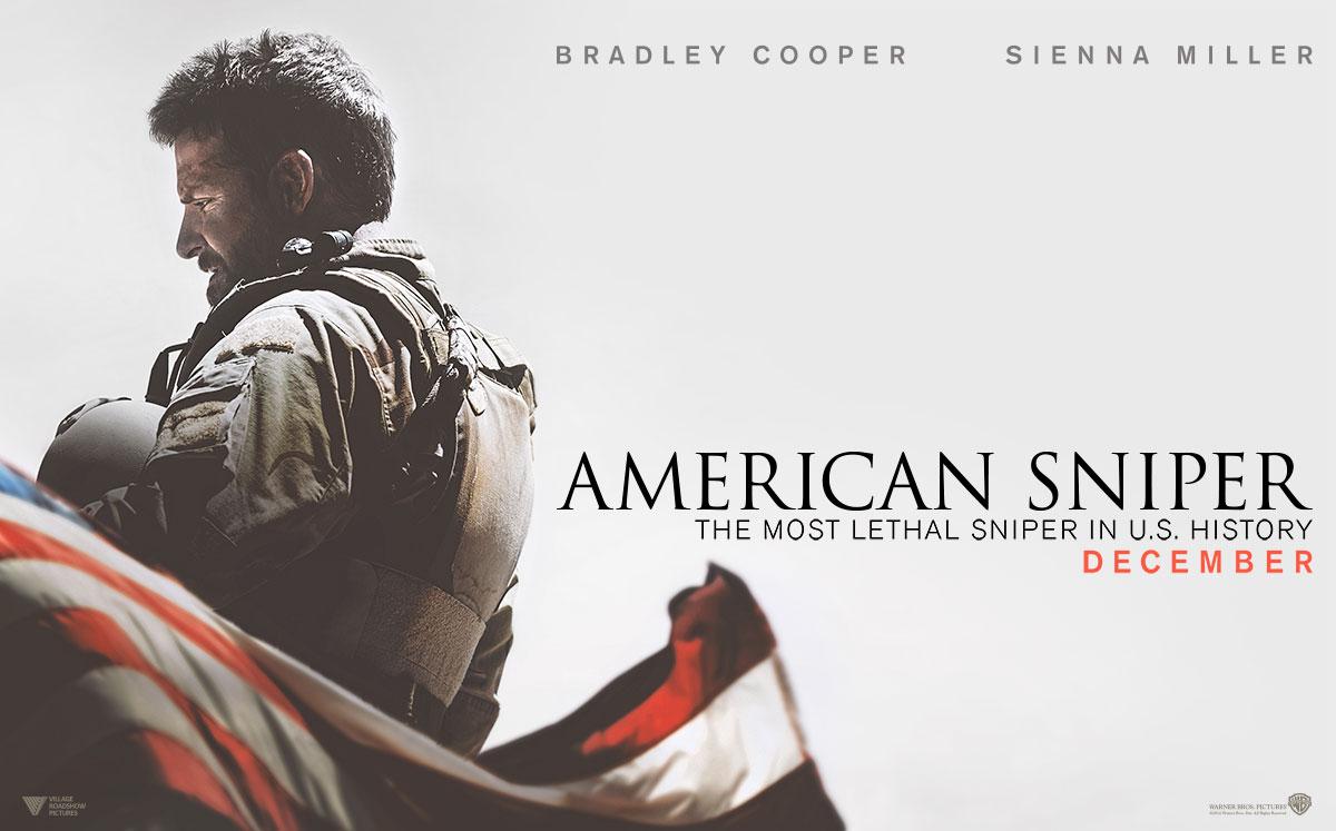 film sniper terbaik kedua adalah American Sniper (2014)