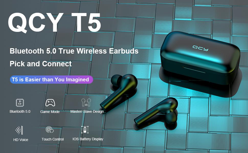 QCY T5 Earphone Bluetooth TWS