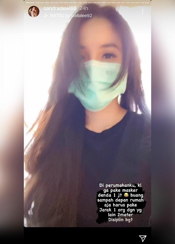Sandra Dewi terapkan ptrotokol kesehatan psbb ketat